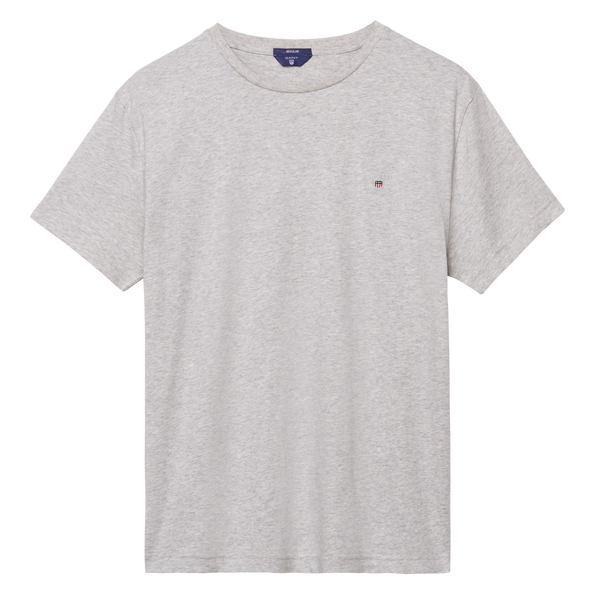 GANT - Solid T-Shirt Light Grey Melange