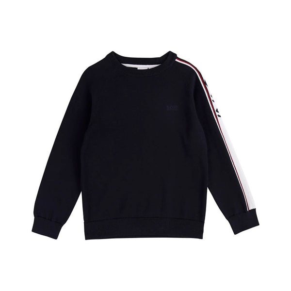 HUGO BOSS - BOYS J25E08 JUMPER NAVY