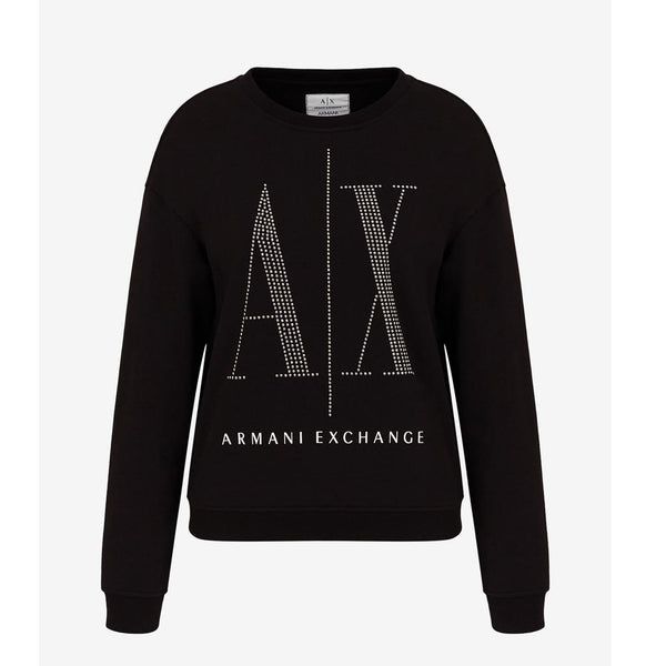 ARMANI EXCHANGE - WOMEN'S 8NYM01 JUMPER BLACK