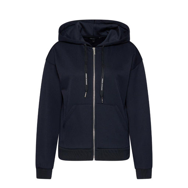 ARMANI EXCHANGE - WOMEN'S 8NYM97 SWEATSHIRT JACKET NAVY