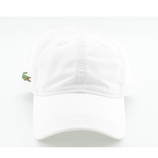 LACOSTE - PLAIN BASEBALL CAP WHITE