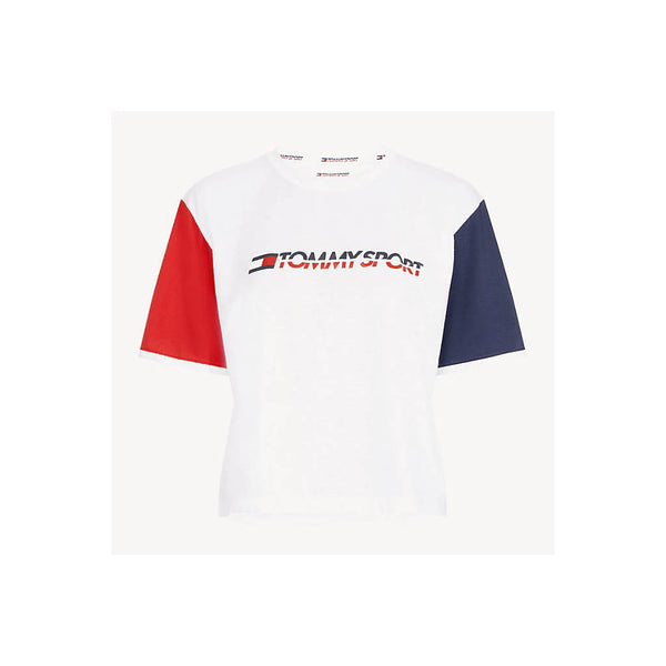 TOMMY HILFIGER  - WOMEN'S COLOUR-BLOCKED SLEEVE WHITE