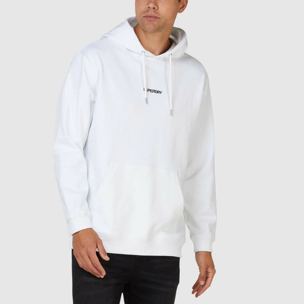 SUPERDRY - MEN'S MICRO LOGO BOX HOODY WHITE