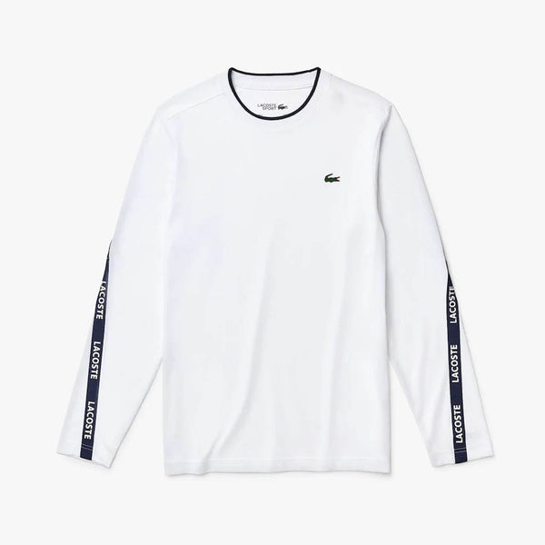LACOSTE - MEN'S LOGO BAND BREATHABLE TEE WHITE