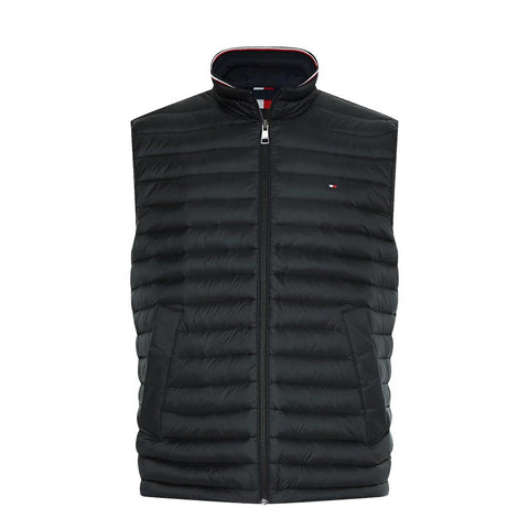 TOMMY HILFIGER - MEN'S CORE PACKABLE DOWN VEST BLACK
