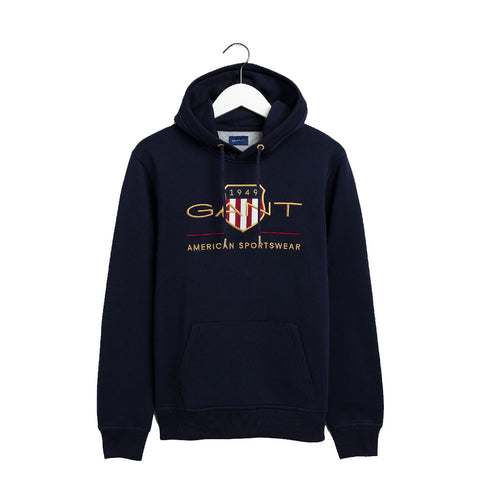 GANT - MEN'S ARCHIVE SHIELD HOODIE EVENING BLUE
