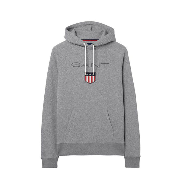 GANT - SHIELD SWEAT HOODIE GREY MELANGE