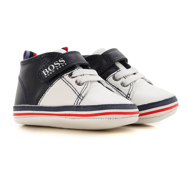 HUGO BOSS - J99060 BABY SHOES NAVY/WHITE