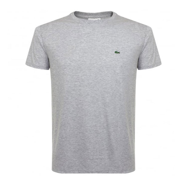 LACOSTE MEN'S PIMA COTTON T-SHIRT SILVER CHINE