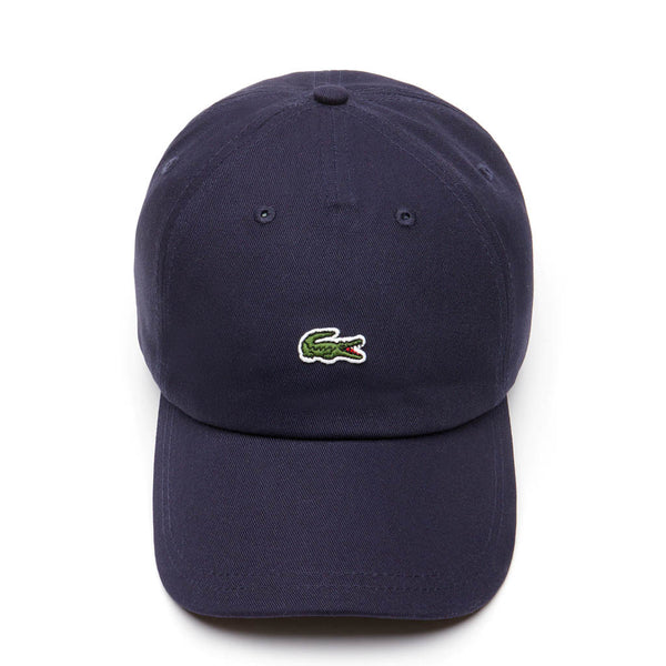 LACOSTE - MEN'S EMBROIDERED CROCODILE COTTON CAP NAVY