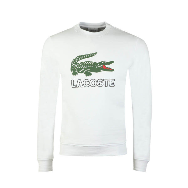 LACOSTE - MEN'S GRAPHIC CROC SWEATSHIRT WHITE