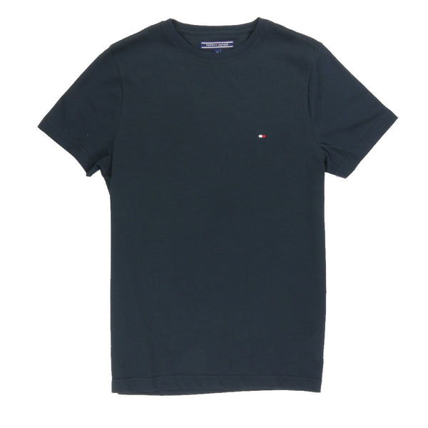 TOMMY HILFIGER - MAY CREW NECK TEE FLAG BLACK