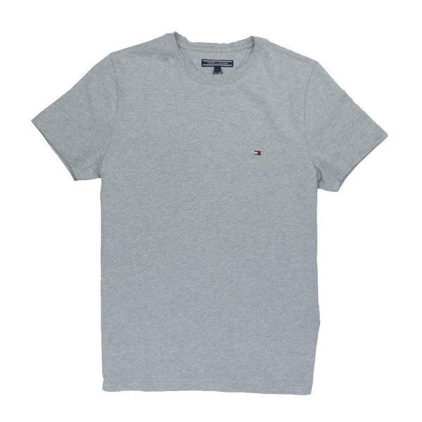 TOMMY HILFIGER - MAY CREW NECK TEE CLOUD HTR