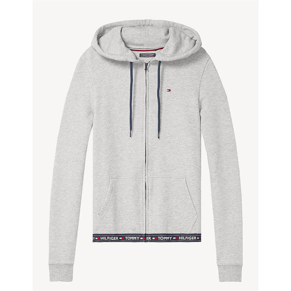 TOMMY HILFIGER - WOMEN'S COTTON TERRY LOUNGE HOODY GREY