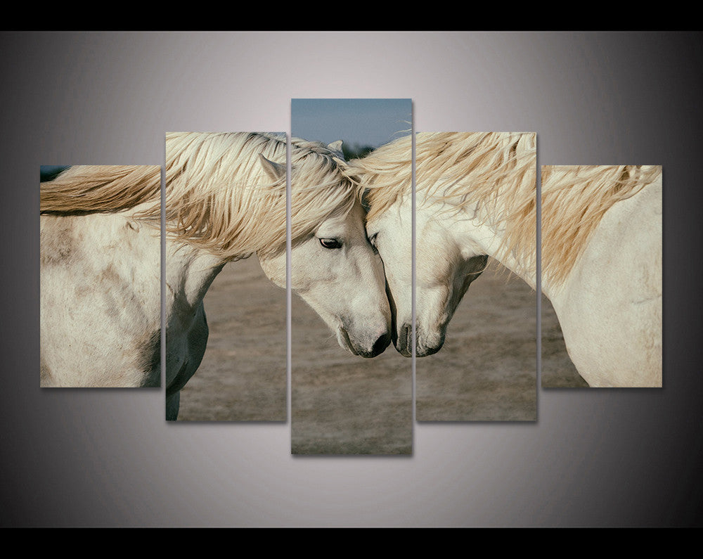 Limited Edition Horse Love 5 Piece Canvas