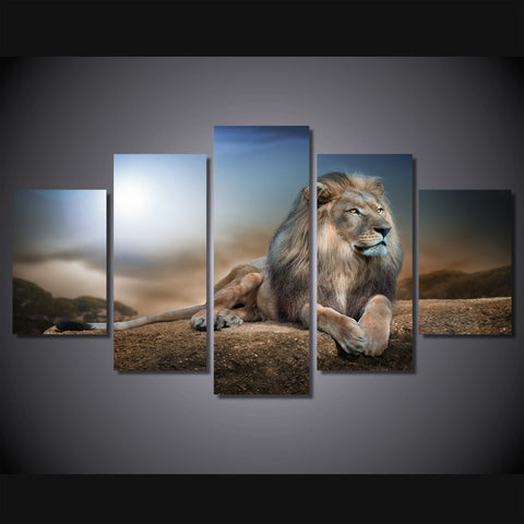 Limited Edition Delightful Lion Canvas