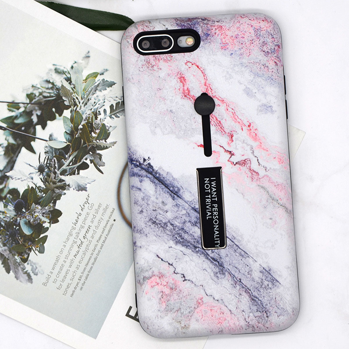 Lovely Marble Grip iPhone Case