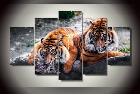 Limited Edition Tigers 5 Piece Canvas