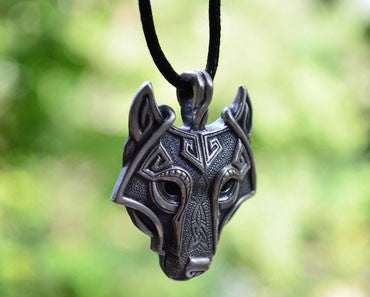 Wolf Face Necklace