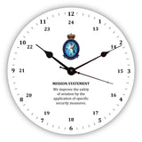 Personalised Novelty Clock - Aviation Security 24 hour clock