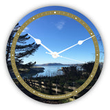 Personalised Novelty Clock - Harbour view from a farm