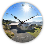 Personalised Novelty Clock - Aerial view of house