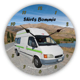 Personalised Novelty Clock - Campervan parked in a scenic spot