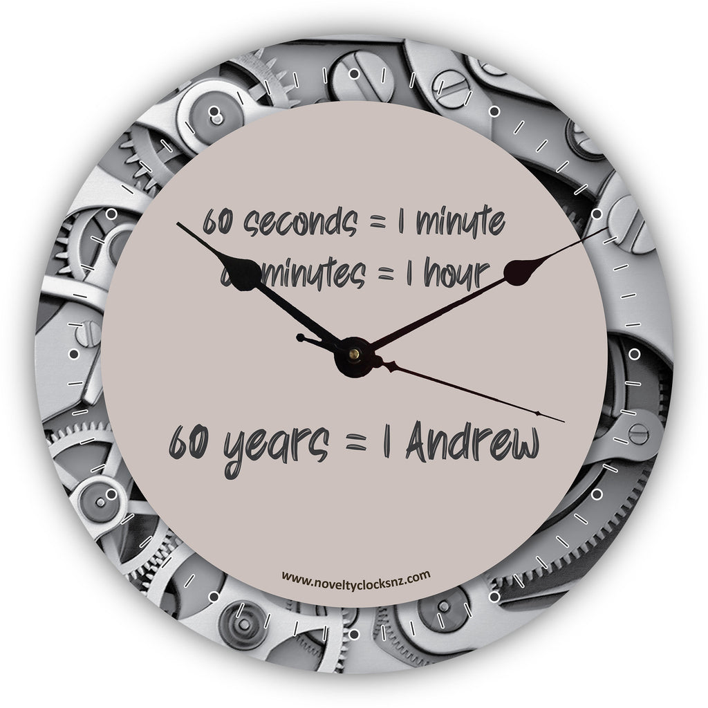 60 Years Birthday Novelty Gift Clock