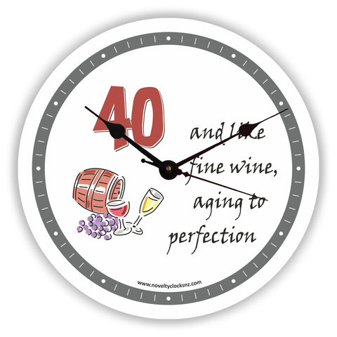 Aging to Perfection Birthday Novelty Gift Clock