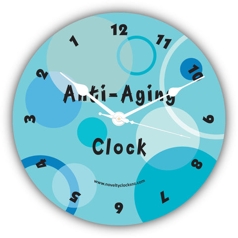 Anti Aging Novelty Clock with backwards anticlockwise movement
