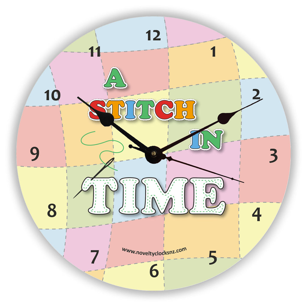 A Stitch in Time General Novelty Gift Clock