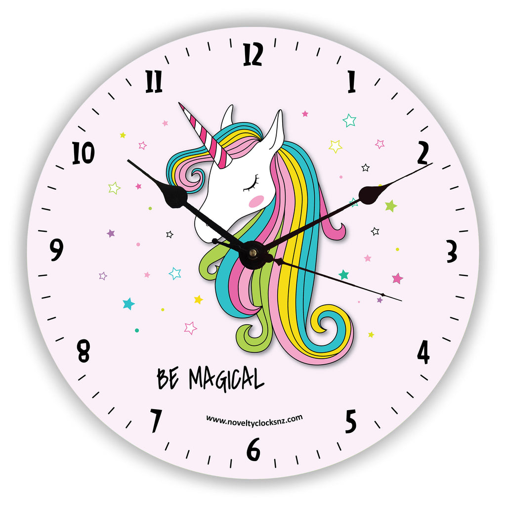 Be Magical Unicorn Children Novelty Gift Clock