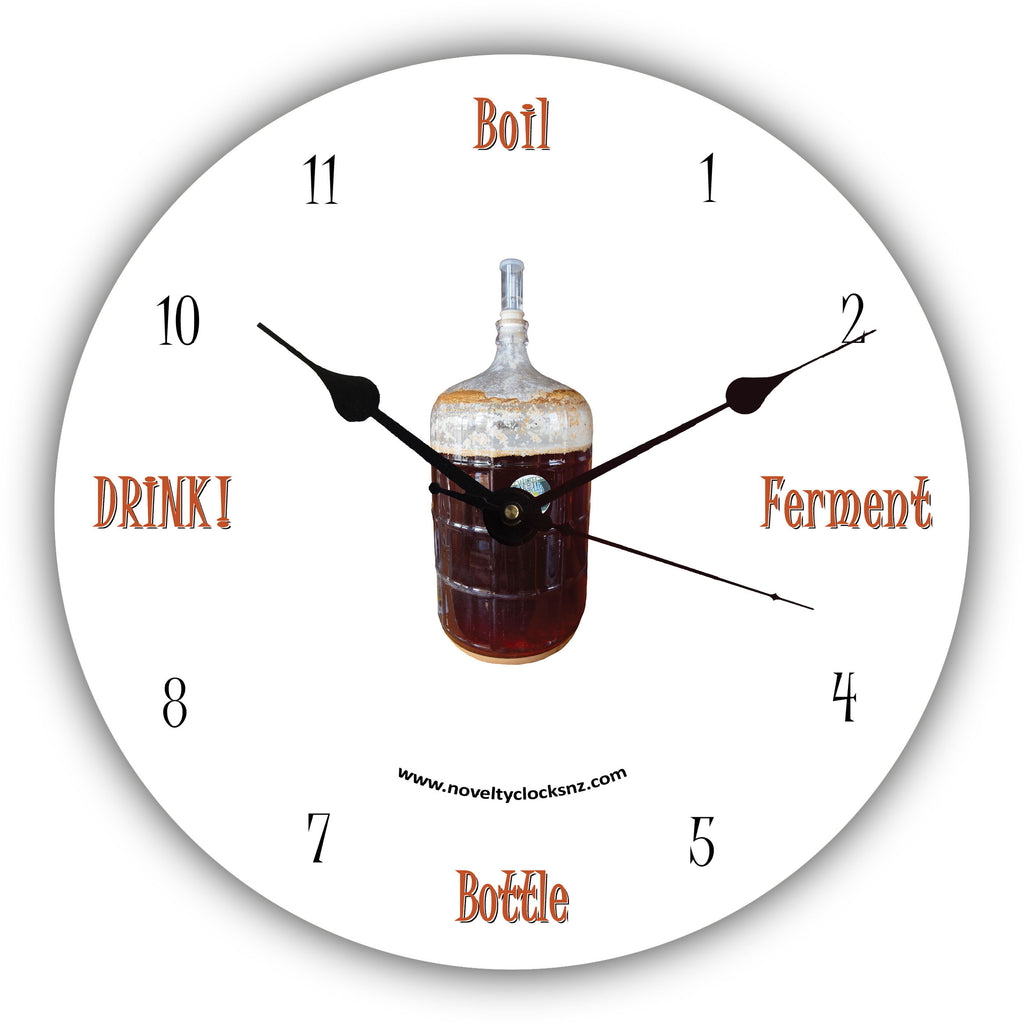 Brew Time Beer Bar Theme Novelty Gift Clock