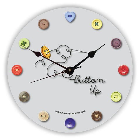 Button Up General Novelty Gift Clock