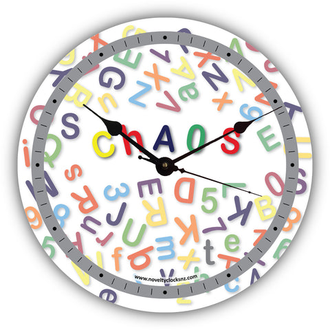Chaos Humour Novelty Gift Clock