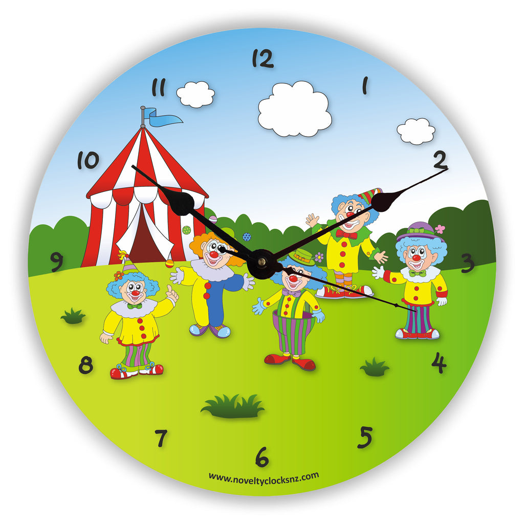 Clowning Around Children Novelty Gift Clock