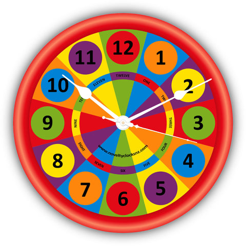 Colour Wheel Children Novelty Gift Clock