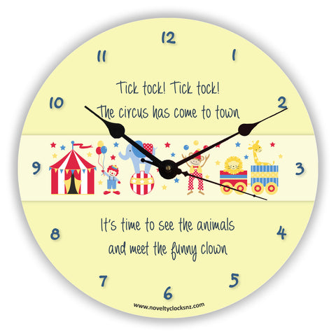 Come to the Circus Children Novelty Gift Clock