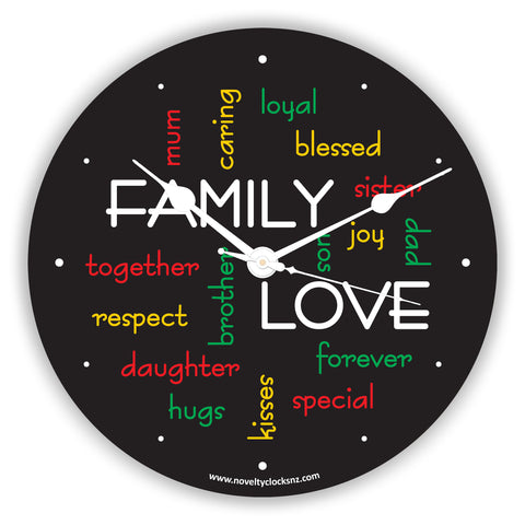 Family Love General Inspirational Novelty Gift Clock