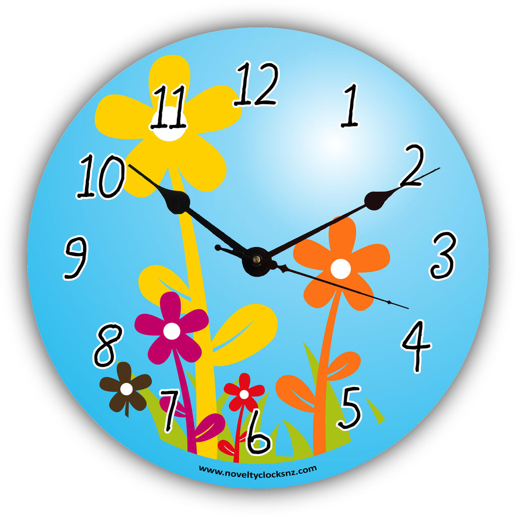 Flowers in the Sun Children General Novelty Gift Clock
