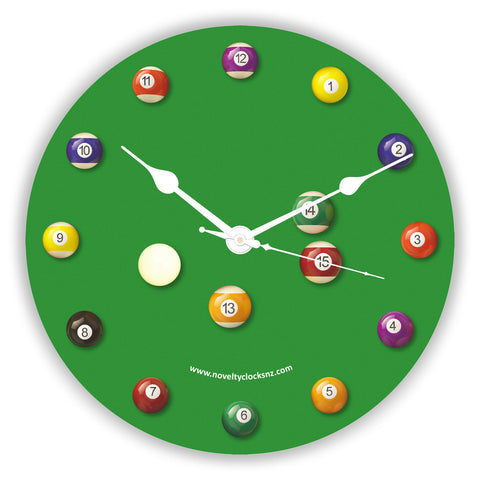 Game of Pool Sport Pool Novelty Gift Clock