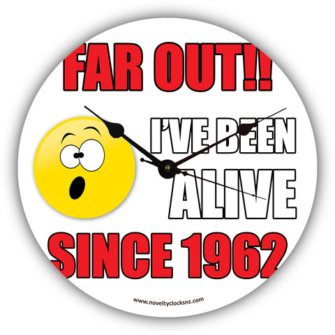 Far out!! I've Been Alive Since Birthday Novelty Gift Clock