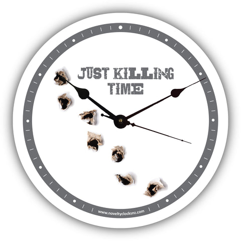 Just Killing Time Humour Novelty Gift Clock