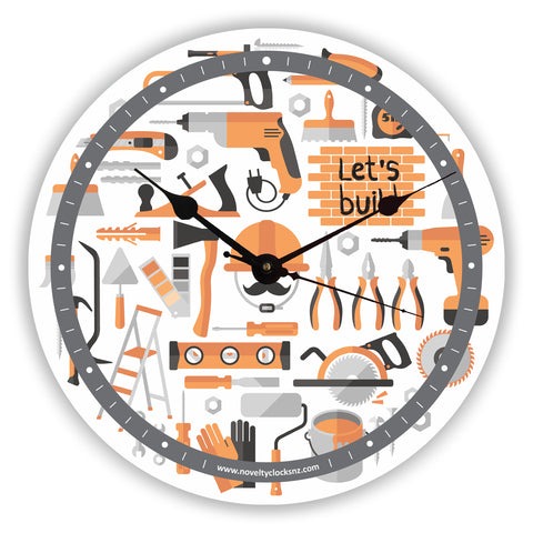 Let's Build Builder Occupations Novelty Gift Clock