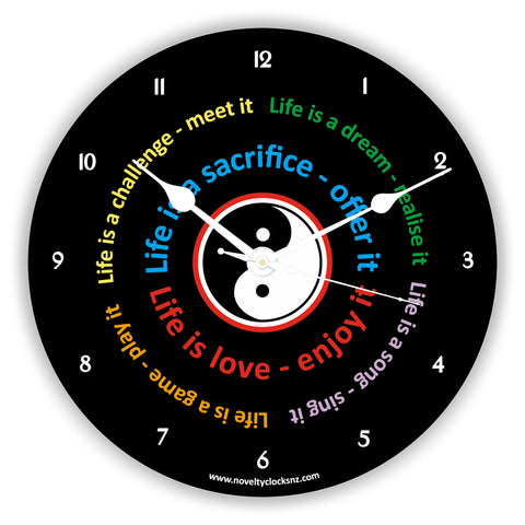 Life Is Inspirational Motivational Novelty Gift Clock
