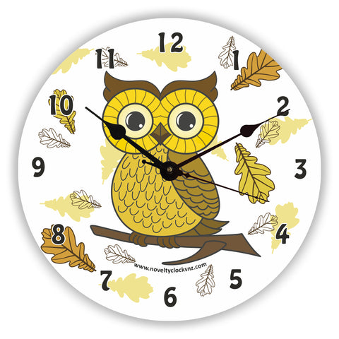 Lilith Owl Children Novelty Gift Clock