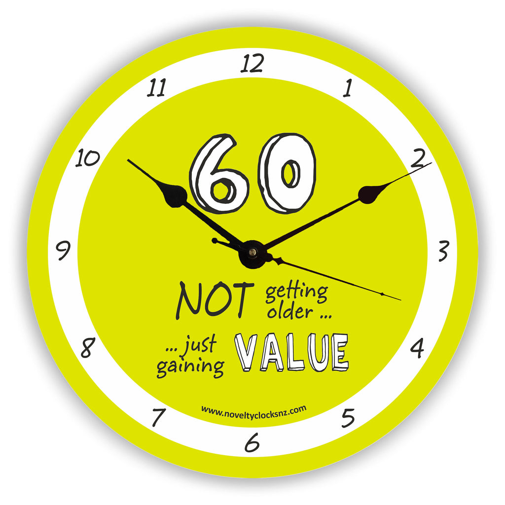 Not Getting Older Birthday Novelty Gift Clock