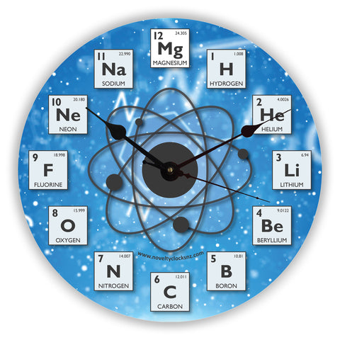 Periodic Table General Novelty Gift Clock