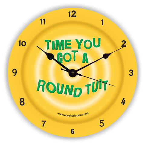 Round Tuit Humour Novelty Gift Clock