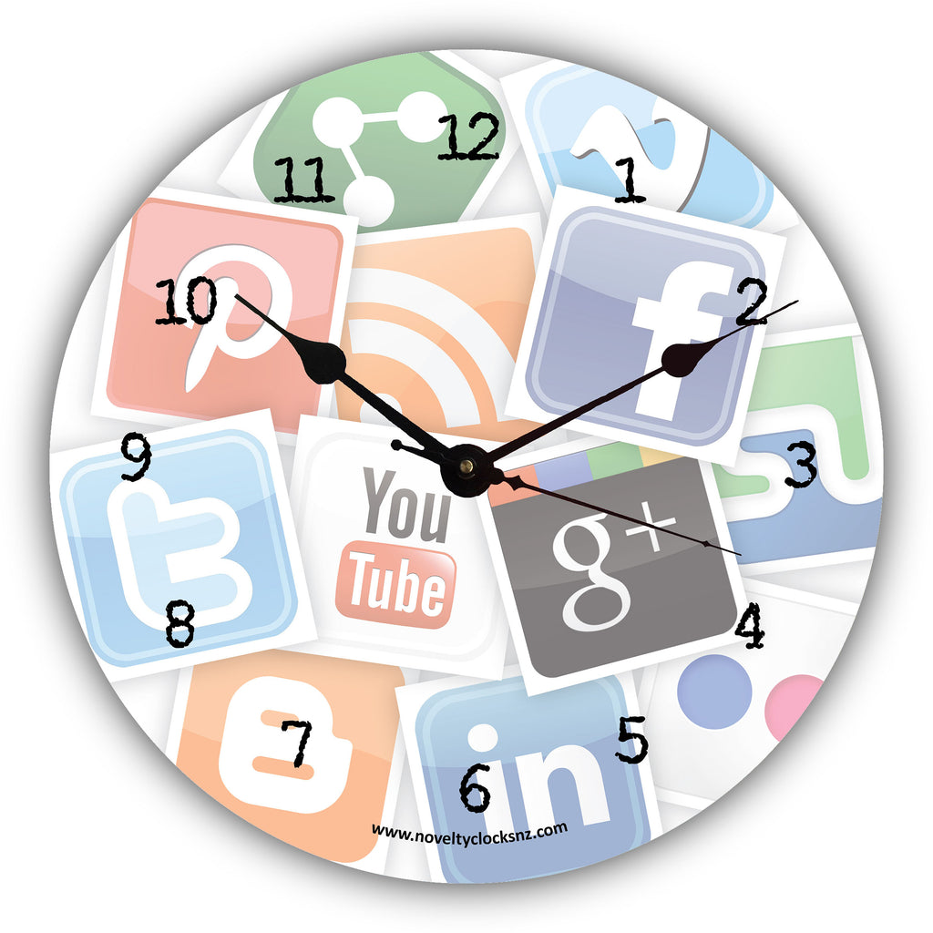 Social Media General Novelty Gift Clock